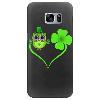 Four Leaf Clovers St. Patrick's Day Gift  Lucky  Owl Samsung Galaxy S7 Edge Case Designed By Hoainv
