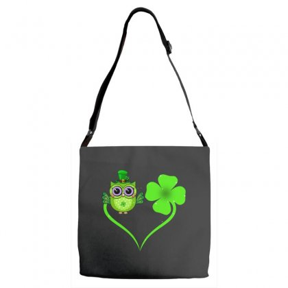 Four Leaf Clovers St. Patrick's Day Gift  Lucky  Owl Adjustable Strap Totes Designed By Hoainv