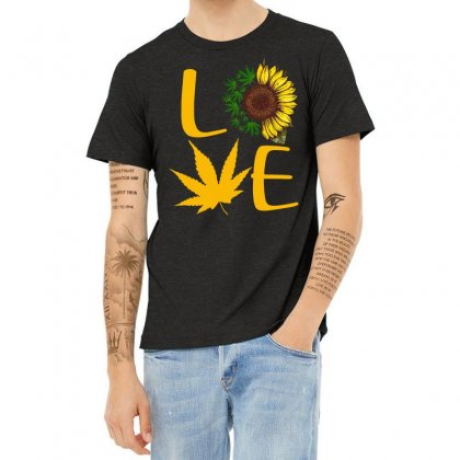 Love Sunflower Heather T-shirt Designed By Hoainv