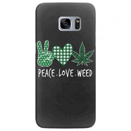 Peace Love Weed  Shamrocks Love  St. Patrick's Day Gift Samsung Galaxy S7 Edge Case Designed By Hoainv