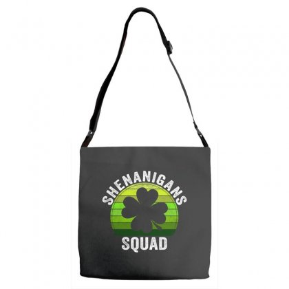 Shenanigans Squad 4 Clover Shamrocks Love  St. Patrick's Day Gift Adjustable Strap Totes Designed By Hoainv