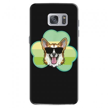 Three  Leaf Clovers St Patricks Day Gift  Lucky Corgi Samsung Galaxy S7 Case Designed By Hoainv
