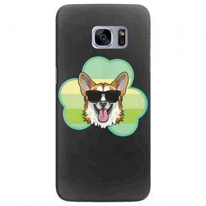 Three  Leaf Clovers St Patricks Day Gift  Lucky Corgi Samsung Galaxy S7 Edge Case Designed By Hoainv