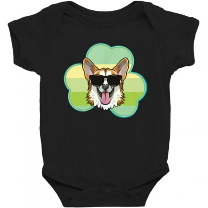 Three  Leaf Clovers St Patricks Day Gift  Lucky Corgi Baby Bodysuit Designed By Hoainv