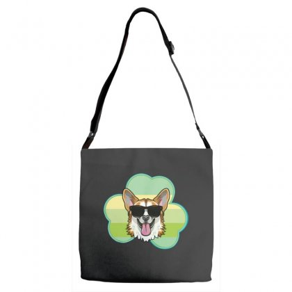 Three  Leaf Clovers St Patricks Day Gift  Lucky Corgi Adjustable Strap Totes Designed By Hoainv