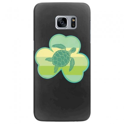 Three  Leaf Clovers St Patricks Day Gift  Lucky Turtle Samsung Galaxy S7 Edge Case Designed By Hoainv