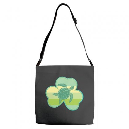 Three  Leaf Clovers St Patricks Day Gift  Lucky Turtle Adjustable Strap Totes Designed By Hoainv