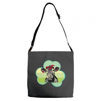 Three  Leaf Clovers St. Patrick's Day Gift  Lucky Cow Adjustable Strap Totes Designed By Hoainv
