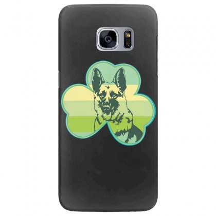 Three  Leaf Clovers St. Patrick's Day Gift  Lucky German Shepherd Dog Samsung Galaxy S7 Edge Case Designed By Hoainv