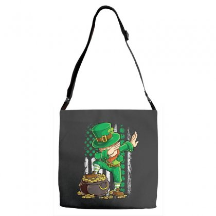 Dabbing Leprechaun Irish American Flag St Patricks Day Boys T Shirt Adjustable Strap Totes Designed By Hoainv