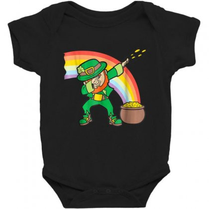 Dabbing Leprechaun Shirt   Funny St Patricks Day Dab T Shirt Baby Bodysuit Designed By Hoainv