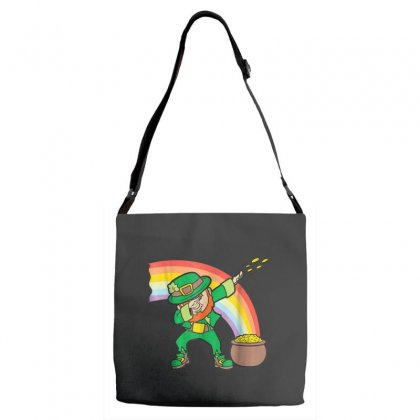Dabbing Leprechaun Shirt   Funny St Patricks Day Dab T Shirt Adjustable Strap Totes Designed By Hoainv