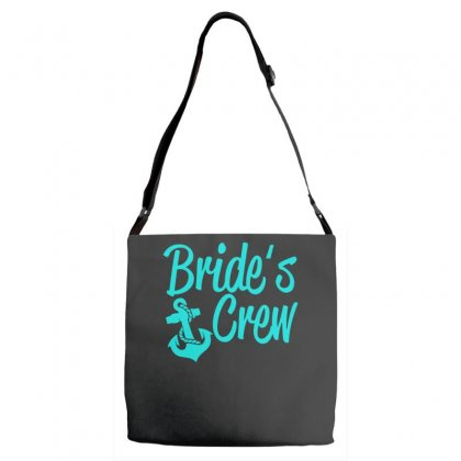 Bride's Crew Cute Anchor Adjustable Strap Totes Designed By S4bilal