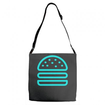 Burger Tee Adjustable Strap Totes Designed By S4bilal