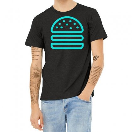 Burger Tee Heather T-shirt Designed By S4bilal
