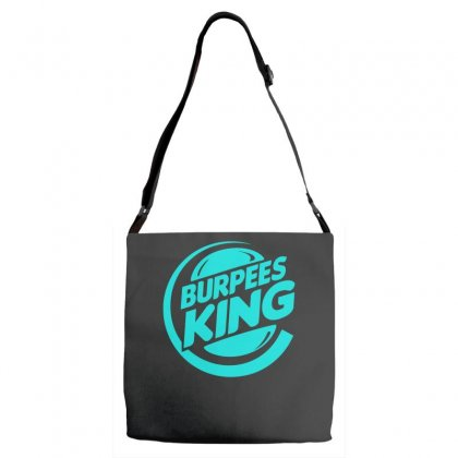 Burpees King Adjustable Strap Totes Designed By S4bilal