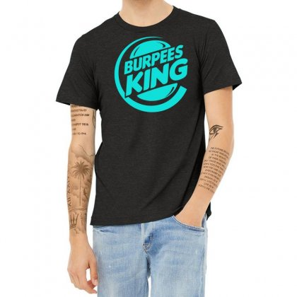 Burpees King Heather T-shirt Designed By S4bilal