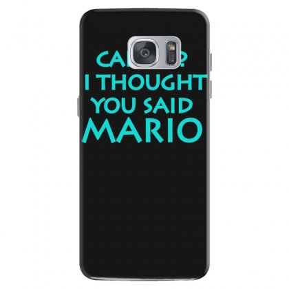 Cardio, I Thought You Said Mario Samsung Galaxy S7 Case Designed By S4bilal
