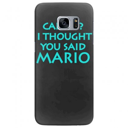 Cardio, I Thought You Said Mario Samsung Galaxy S7 Edge Case Designed By S4bilal