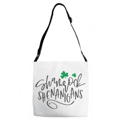 Shamrock Shenanigans, St Patrick's Day Adjustable Strap Totes Designed By Theblackcatprints