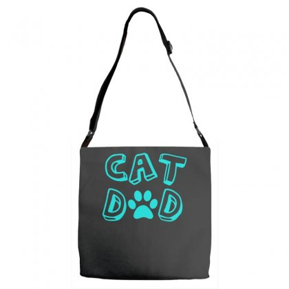 Cat Dad Adjustable Strap Totes Designed By S4bilal