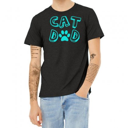 Cat Dad Heather T-shirt Designed By S4bilal