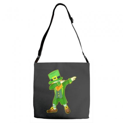 Dabbing Leprechaun Shirt   Funny St. Patrick's Day T Shirt Adjustable Strap Totes Designed By Hoainv