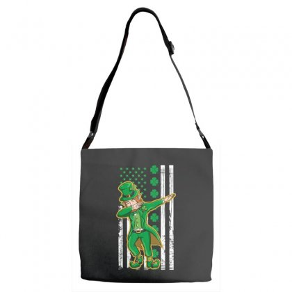 Dabbing Leprechaun Shirt   St Patricks Day Tshirt Gift Adjustable Strap Totes Designed By Hoainv