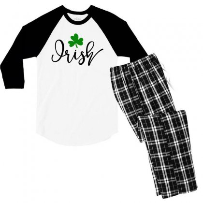 Irish, St Patrick's Day Men's 3/4 Sleeve Pajama Set Designed By Theblackcatprints