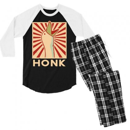 Honk Men's 3/4 Sleeve Pajama Set Designed By Tht