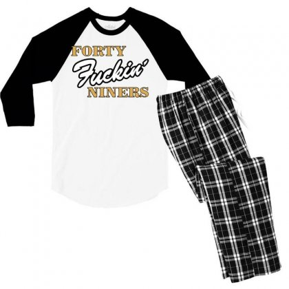 Forty Fuckin' Niners Men's 3/4 Sleeve Pajama Set Designed By Tht