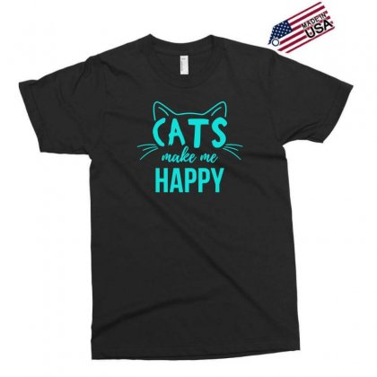 Cats Make Me Happy Exclusive T-shirt Designed By S4bilal
