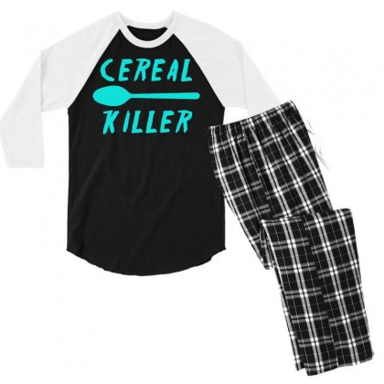 Cereal Killer Men's 3/4 Sleeve Pajama Set Designed By S4bilal