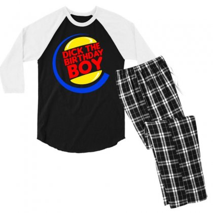 Dick The Birthday Boy Men's 3/4 Sleeve Pajama Set Designed By Tht