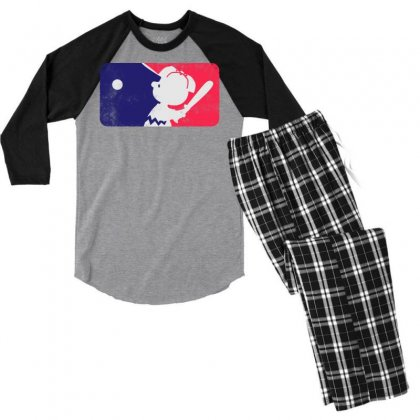 Baseball Vintage Men's 3/4 Sleeve Pajama Set Designed By Swan Tees