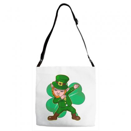 Dabbing Leprechaun Shirt Funny Dab St Patrick Day Gift Idea T Shirt Adjustable Strap Totes Designed By Hoainv