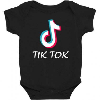 Tik And Tok Baby Bodysuit Designed By Swan Tees