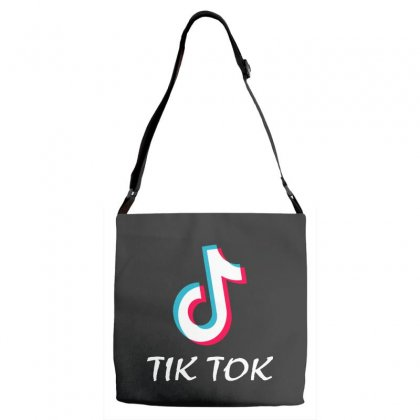 Tik And Tok Adjustable Strap Totes Designed By Swan Tees