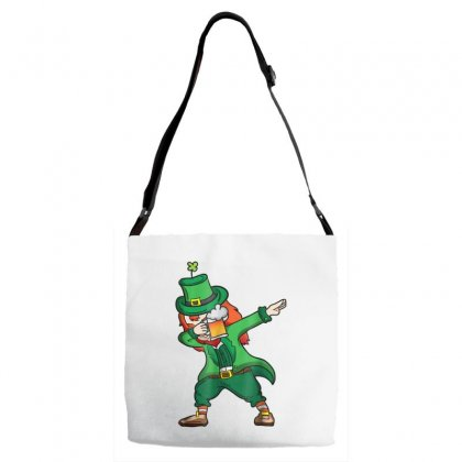 Dabbing Leprechaun Shirt Men Drinking St Patricks Day Shirt Adjustable Strap Totes Designed By Hoainv