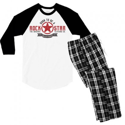 Rock Star Sportswear Men's 3/4 Sleeve Pajama Set Designed By Designisfun