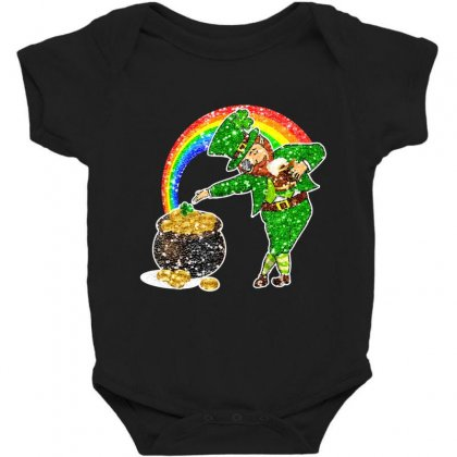 Dabbing Leprechaun Shirt Rainbow Shamrock Patricks Day Baby Bodysuit Designed By Hoainv