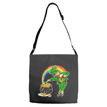 Dabbing Leprechaun Shirt Rainbow Shamrock Patricks Day Adjustable Strap Totes Designed By Hoainv