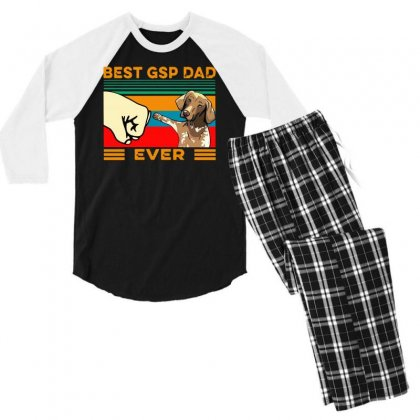 Best Gsp Dad Ever Men's 3/4 Sleeve Pajama Set Designed By Tht