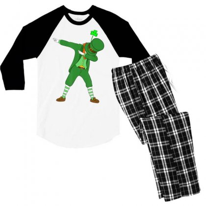 Dabbing Leprechaun Shirt St Patricks Day Boys Kids Men Dab Men's 3/4 Sleeve Pajama Set Designed By Hoainv