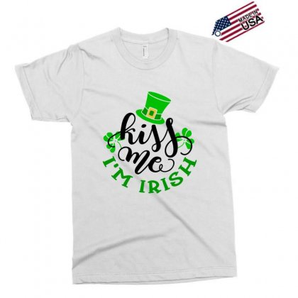 Kiss Me Im Irish, St Patrick's Day Exclusive T-shirt Designed By Theblackcatprints