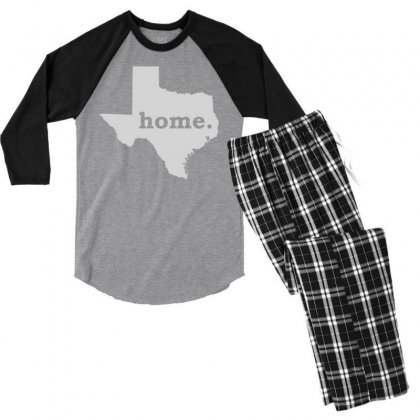 Texas Home Men's 3/4 Sleeve Pajama Set Designed By Shirt1na