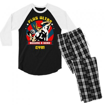 Become A Hero Men's 3/4 Sleeve Pajama Set Designed By Tht