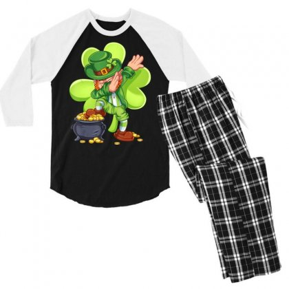 Dabbing Leprechaun Shirt St Patricks Day Kids Boys Men T Shirt Men's 3/4 Sleeve Pajama Set Designed By Hoainv