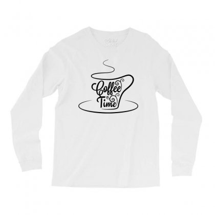 Coffee Time Black Long Sleeve Shirts Designed By Tht