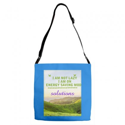 I Am Not Lazy Adjustable Strap Totes Designed By Darshan International